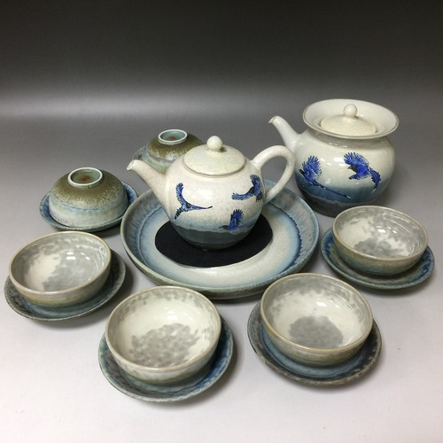 手繪藍鵲壺組<br>Blue Magpie Painte Teapot Set示意圖